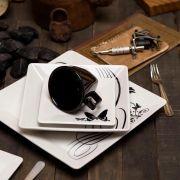 Aparelho de Jantar 42 Peças Quartier Tattoo - Oxford