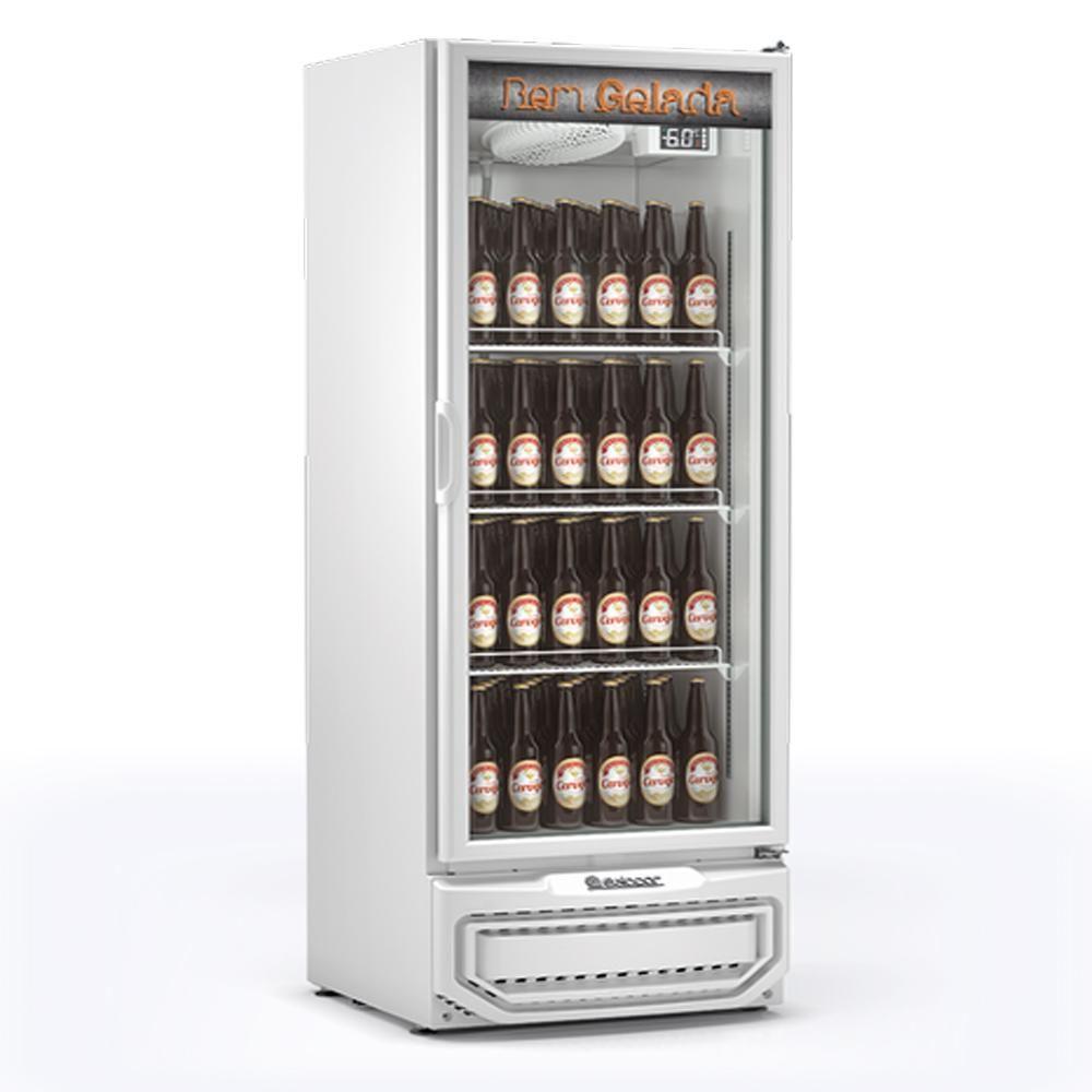 Cervejeira Expositor de Bebidas 410L Gelopar GRBA-400 PV Porta de Vidro