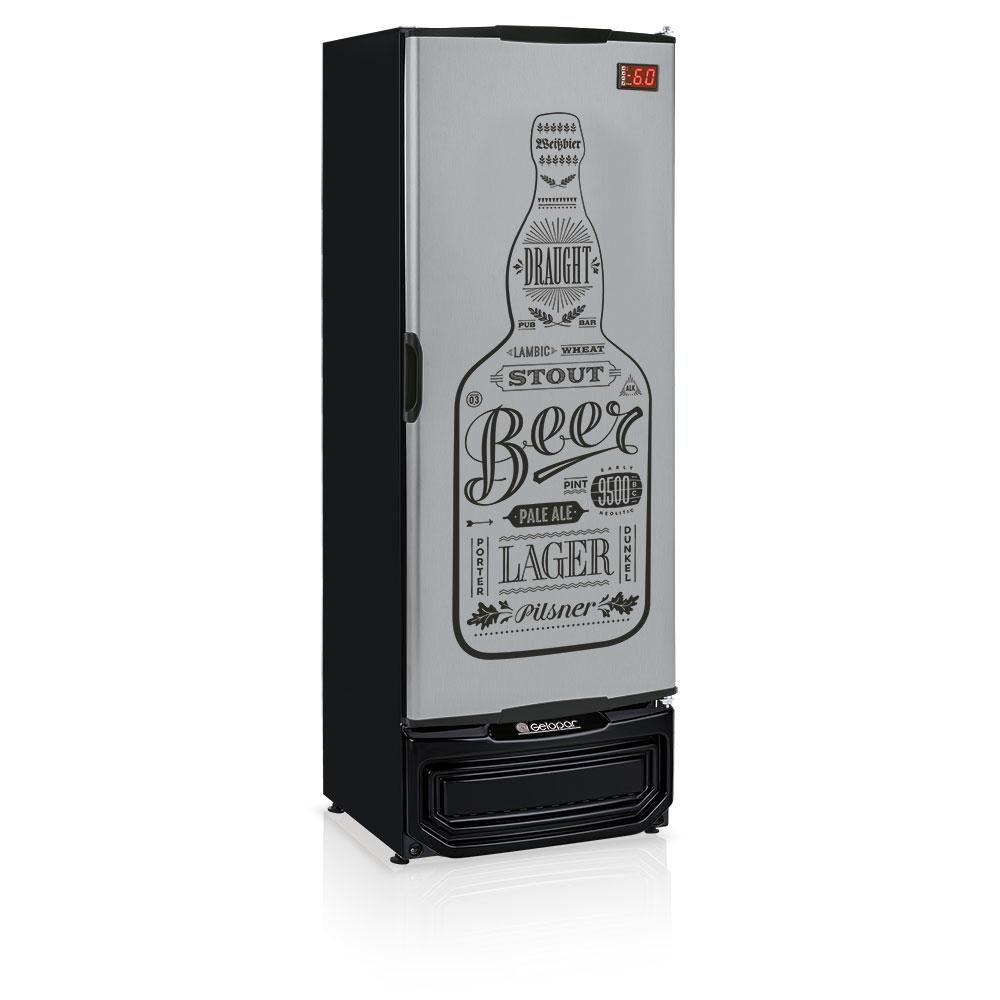 Cervejeira Gelopar Porta Tipo Inox 400L GRBA 400-GW