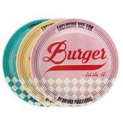 Conjunto de Pratos para Hambúrguer 6 peças – Oxford Porcelanas
