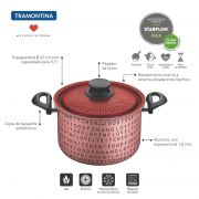 Espagueteira Tramontina My Lovely Kitchen em Alumínio Rosa Antiaderente 5,7 L 27807048
