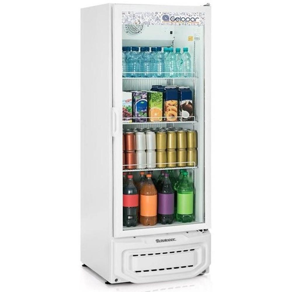 Expositor de Bebidas Vertical Gelopar 414 L Porta de Vidro Branco GPTU-40