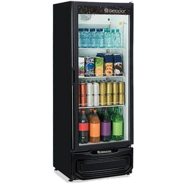 Expositor de Bebidas Vertical Gelopar 414 L Porta de Vidro Preto GPTU-40