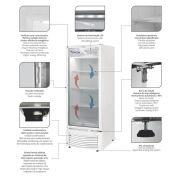 Expositor Refrigerador de bebidas Vertical Porta de Vidro Fricon - VCFM 402 V Branco