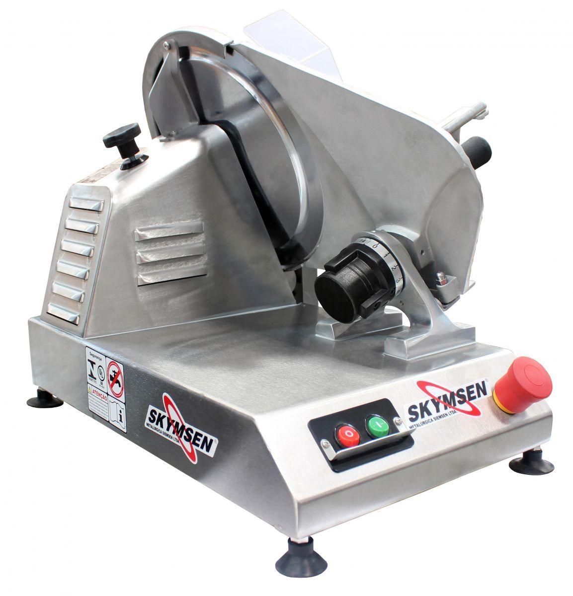 Fatiador de Frios Semiautomático Profissional Skymsen CFI-300L-N Inox