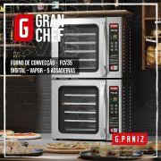 Forno Turbo Elétrico 5 Esteiras com Vapor Gran Chef Gpaniz FCV 35