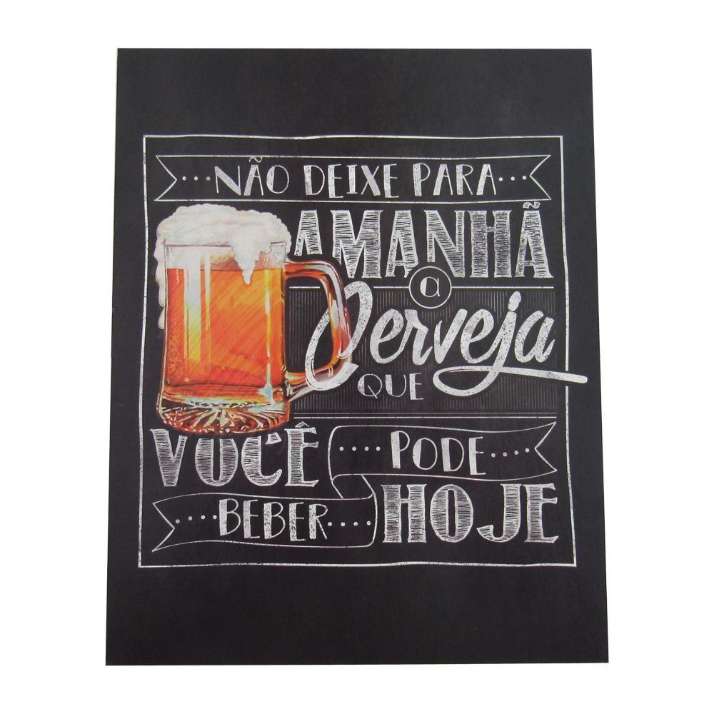 Quadro Decorativo em MDF Cerveja Chopp - Litoarte