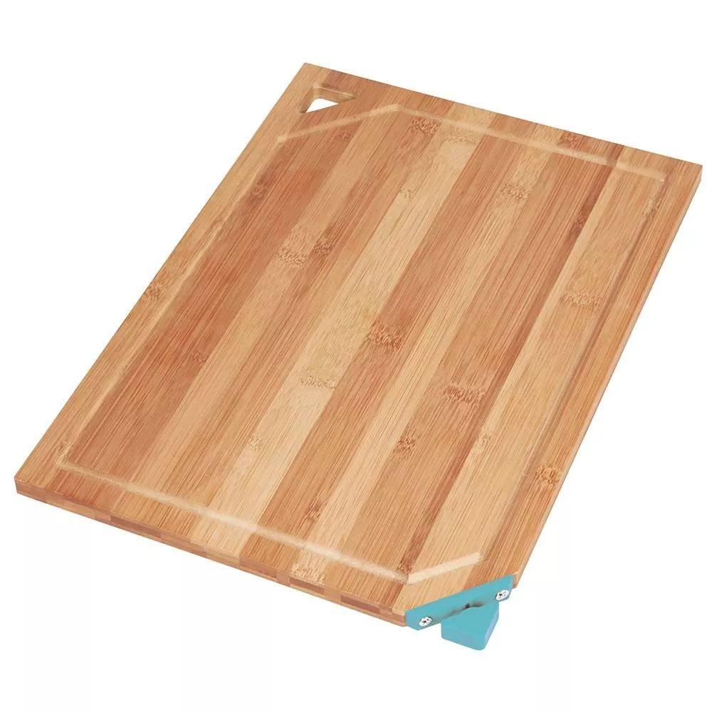 Tábua de Corte Bambbo com Afiador de Faca Acoplado - MOR